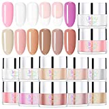 Dip Powder 12 Colors Kit for French Nail Manicure,Dipping Powder Nail Art Set Essential Set (Not Include Base,Top Coat and Activator)G6601
