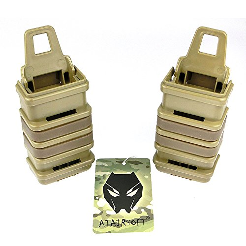 ATAIRSOFT WorldShopping4U 2X Double Fast Attach MP7 MAG Magazine Pouch Molle Holster Holder Set 4 Colors (Black, DE, FG,OD) for Tactical Airsoft (DE)