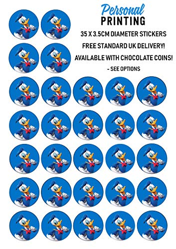 PP - Donald Eend Mickey Mouse Club House Stickers 35 x 35mm Stickers Sheet Verjaardag Evenement Leuke Scrap Boek Nieuwigheid Kids Verjaardag