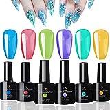 FIGHTART jelly gel polish set crystal rainbow color gel 2020 10 ml each soak off uv led 6 bottles
