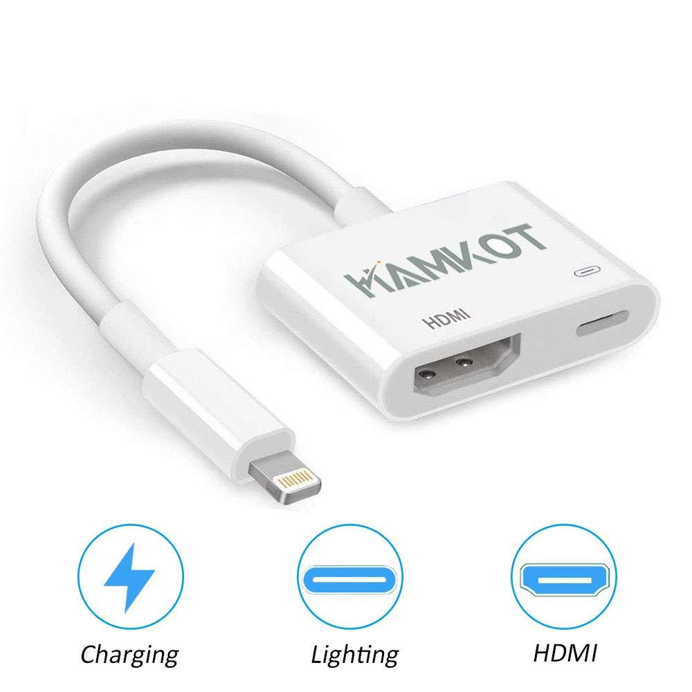 HAMKOT Adaptador HDMI para iPhone iPad Video Converter 1080P ...