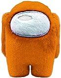MORANGO Peluches Among Us, Plush Crewmate Among Us Matanza de Hombre Lobo Espacial, muñeco de Personaje del Juego - 20 cm (Naranja)