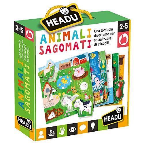 Headu-Gli Animali Sagomati Gioco, Multicolore, IT21932
