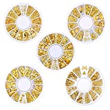 1000 pcs Nail Art Studs/Bijoux/Décoration pour Ongle 3D Accessoires ou DIY Phone (5 boîtes)