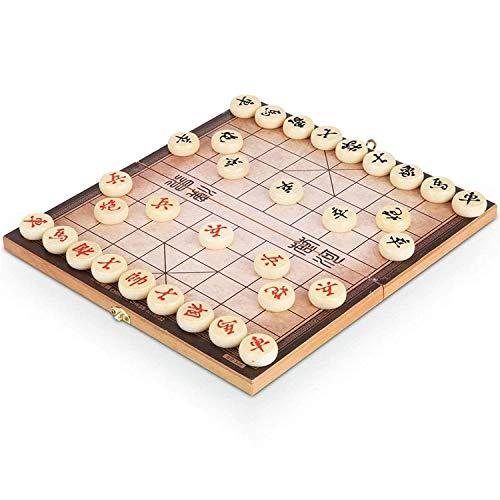 ZHJ Massivholz Chinesische Schachfigur Folding Schachbrett Training Frühe Bildung Denkende Training Interaktives Spiel Dekorative Ornamente Chinesisches Schach (Size : 3cm Chess Piece)