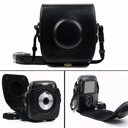 Cisixin Cuero de Cámara Caja de Cámara para Fujifilm Instax Square SQ 10 Cámara Digital (Negro)