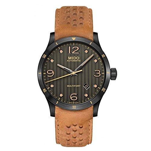 Mido Herren Analog Automatik Uhr mit Leder Armband M0254073606110