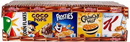 Kellogg's Assortiment de Céréales 35 mini pack Special K/Corn Flakes/Coco Pops/Frosties/Crunchy Nut 35 x 34 g