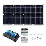 Panel Solar, For el Panel Solar del Coche RV Barco 80W 18V Monocristalino EVA + Pet Dual 12V / DC 5V USB Cargador con 10A12V / 24V Kit de Controlador PWM