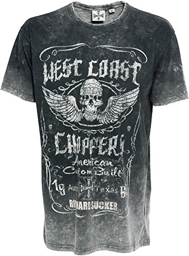 WCC West Coast Choppers T-Shirt Ride Hard Sucker Black-L