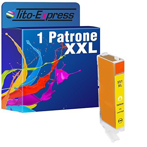 Tito-Express Platinum Serie 1 Cartucho de Tinta XXL Yellow Compatible con Canon CLI-551 CLI 551 XL   para Pixma IP-8700 IP-8720 IP-8750 MG-6350 MG-7120 MG-7150 MG-7550
