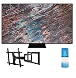 """Samsung QN65QN800A 65"""" QN800A Series UHD Neo QLED 8K Smart TV with a Walts TV Large/Extra Large Full Motion Mount for 43""""-90"""" Compatible TV's and Walts HDTV Screen Cleaner Kit (2021)"""