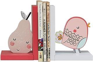 XBR Ny bokstöd uppsättning av 2 träbokstöd för barn, handgjorda och handmålade bokstöd, kreativa bokstöd prydnader personl...