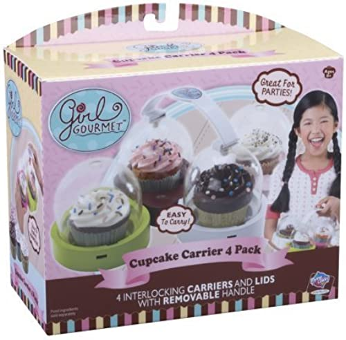 en stock Girl Girl Girl Gourmet Cupcake Pan  Carrier Holder 4 Count by Jakks  online al mejor precio
