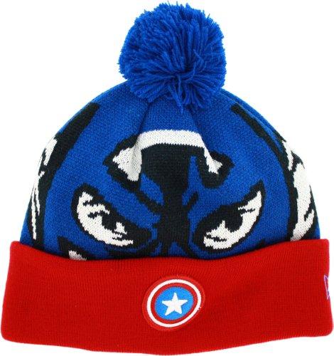 Captain America Woven Biggie Knit Cap