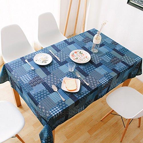 Li Ye Feng Shop Tissu de Coton Nappe rectangulaire Nappe Ethnique Table de Jardin Nappe, Multi-tamaño optionnel 140 * 195cm B