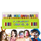 CCbeauty 16 Colors Face Paint Crayons, Non-Toxic Face and Body Halloween Makeup Costume Sticks