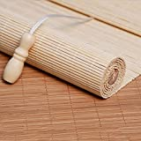 Persianas Enrollables de Bambú Natural,Estores de Bambú para Exteriores,Cortina de Bambu-marrón,Estores para Ventana Tipo Gancho,Cortinas Privacidad Protección,Personalizable (70*160cm/28*63in)