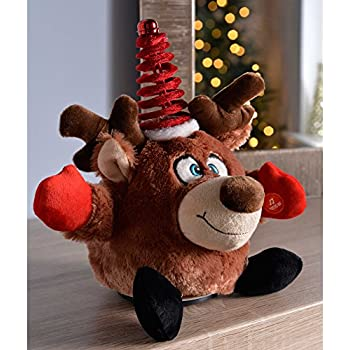 WeRChristmas Novelty Spinning Dancing Musical Dog Christmas Decoration Multi-Colour 24 cm