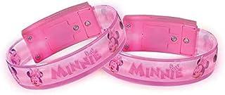 Amscan 3901443 Minnie Mouse Light-Up Bracelets Pink Child Size 4 Pcs
