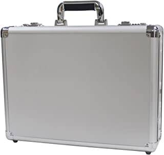 Bory Aluminum Hard Case Briefcase Silver Toolbox Professional Carrying Case Aluminum Flight Cases Portable Equiment Tool Case