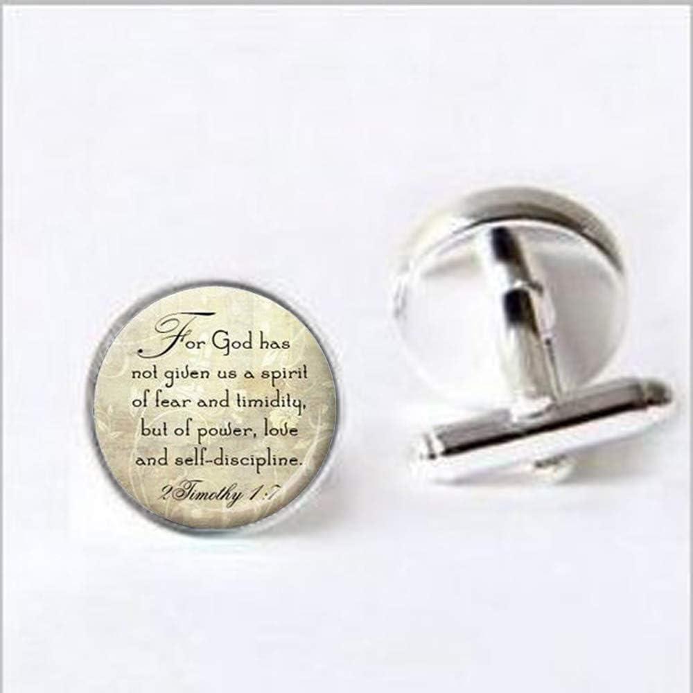 Long Silver Christian Scripture Necklace - Qu 2 Bible wholesale Timothy 17 Direct sale of manufacturer