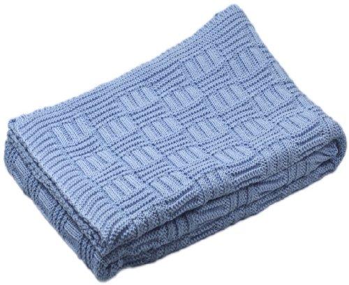 Baby-Decke aus 100% Bio Baumwolle kba hell blau 80 x 90 cm
