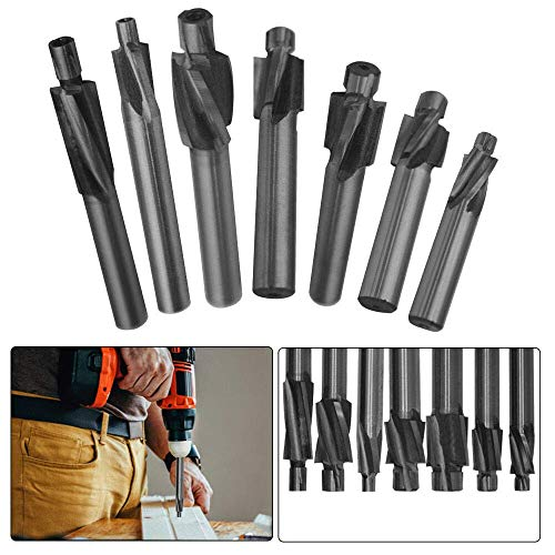 M3.2 Pilot Counterbore End Mill Cutters Mould Solid Slot Drill Bit Slotting Tool, Pack of 1
