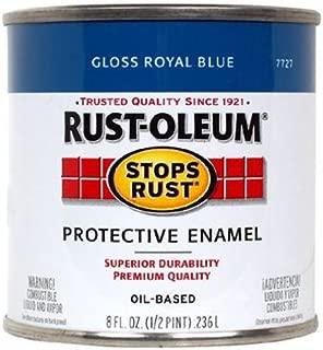 RUST-OLEUM 7727-730 7727730 Stops 1/2 Pint Gloss Royal Blue Rust Enamel