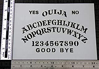 Ouija Board Stencil A5 sheet size (15x21cm) / Halloween Decorative Painting Stencil | Paint your own Ouija board or even use as body art | Flexible Plastic & Reusable