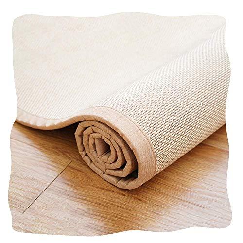 AYHa La fibra natural de bambú japonesa tradicional Alfombra Verano Multipropósito la estera del piso Alfombras de área de refrigeración y transpirable, de 10 mm, 2 colores,B,150 * 180cm