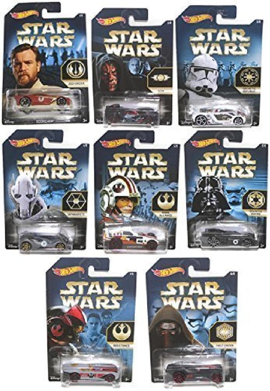 Hot Wheels Star Wars Cars Bundle of 8 Cars by Hot Wheels