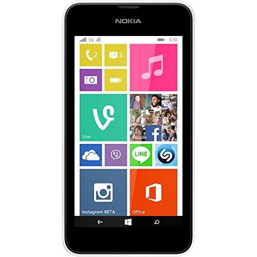 Nokia Lumia 530 Smartphone (10,2 cm (4 Zoll), 1,2GHz Snapdragon Quad-Core Prozessor, 512MB RAM, 5 Megapixel Kamera, Bluetooth, USB 2.0, Win 8) Weiß