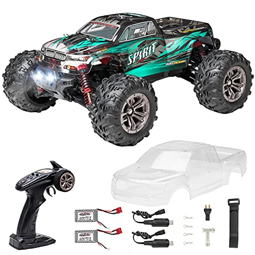 Hobby RC Trucks, FLYHAL Q901 Pro Brushless Remote Control Truck Fast RC Cars 50mph 62KM/H High Speed 4WD 1:16 scale Monster Truck for Adults and kids All Terrain Truck with Extra Shell 2 Batteries