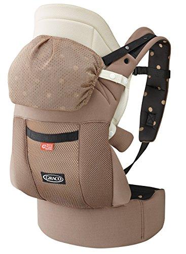 GRACO (グレコ) だっこひも 腰ベルト付き ルーポップゼロCTS ブラウンドットBR Carry Travel System + おくるみインサート + やわらかメッシュ搭載 67554