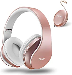 Bluetooth Over-Ear Headphones, Zihnic Foldable Wireless and Wired Stereo Headset Micro SD/TF, FM for Cell Phone,PC,Soft Ea...
