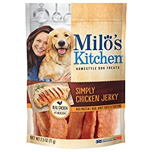 Milo'S Kitchen Simply Chicken Jerky Dog Treat, 2.5 Oz (Pack Of 12)