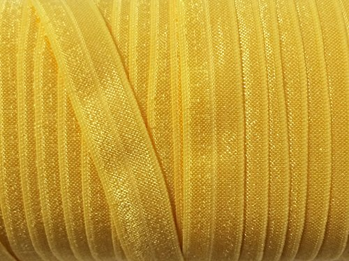 10 Yards FOE 5/8' Yellow Gold Fold Over Elastic [Office Product]