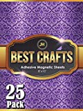 JH Best Crafts Adhesive Magnetic Sheets | Flexible Magnet with Adhesive Backing | 8 x 10 Inch Magnets for Crafts and Pictures | Cut to Any Size | Pack of 25