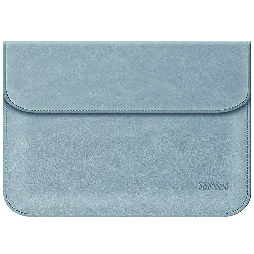 TECOOL 13-13.3 Zoll Laptophülle Faux Leder Hülle Laptop Tasche für MacBook Air 13, MacBook Pro 13, Huawei MateBook 13, 13.5