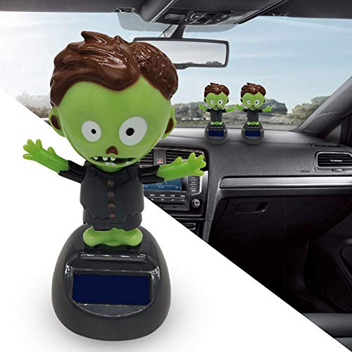 YSHtanj Auto-Dekoration für den Innenbereich, lustige Geister-Puppe mit Solarenergie, Schaukeln,...