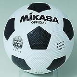 MIKASA 3330 Ballon de Football Foot Loisirs Mixte Adulte, Blanc Noir, Taille 5