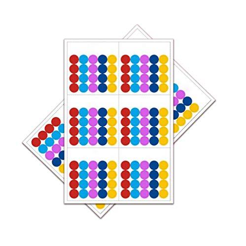 10PCS Blank multicolore rotondo bottiglia di olio essenziale di codifica 10foglio di etichette 1500etichette per bottiglie a rullo e campione flaconcini