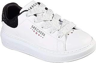 Skechers Kid's High Street Shimmer Pops Girls Fashion Sneakers White/Black 13 Little Kid