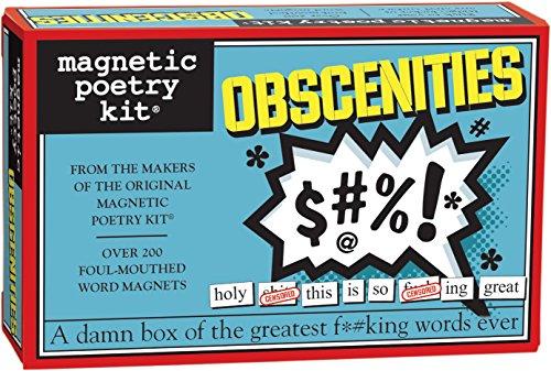 Magnetische Poëzie - Obscenities Kit - Woorden voor Koelkast - Schrijf gedichten en brieven op de Koelkast