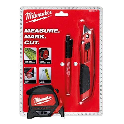 Milwaukee 4932459375 Starterset Handwerkzeuge 3 tlg