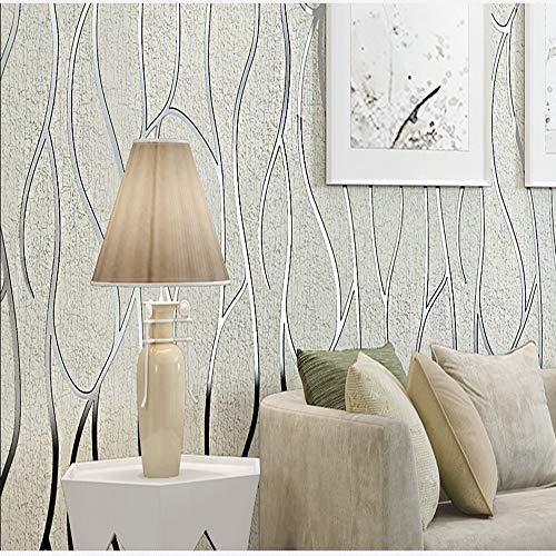 ZHAORLL Mode Hirsch samt 3D geprägt geometrische abstrakte tapete Schlafzimmer Wohnzimmer TV hintergrundbild Nicht selbstklebend 53 cm * 10 Mt,A