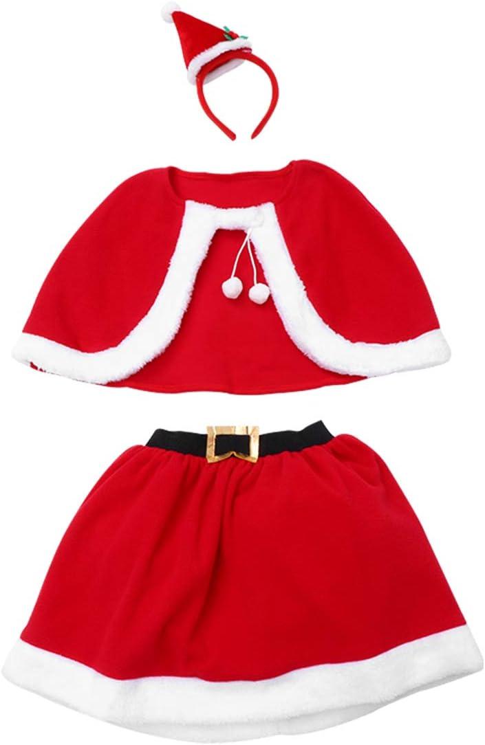 ABOOFAN 1 Set Christmas Children Seattle Mall P Clothes Skirt Gorgeous Headdress Cloak
