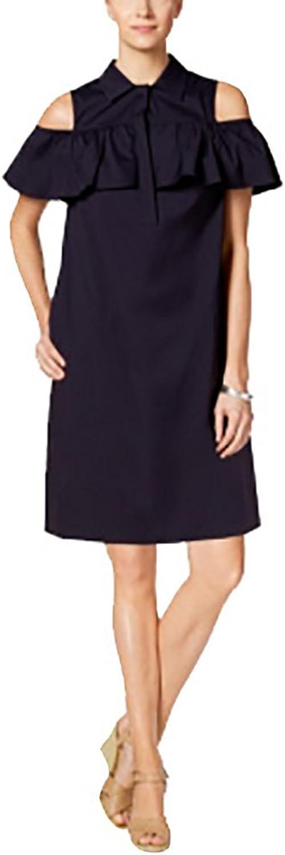 Charter Club ColdShoulder ButtonFront Dress