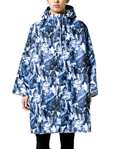 43DEGREES レインポンチョ [Crystal/フリーサイズ ] ユニセックス ショルダーバッグタイプ (収納袋付き)雨...